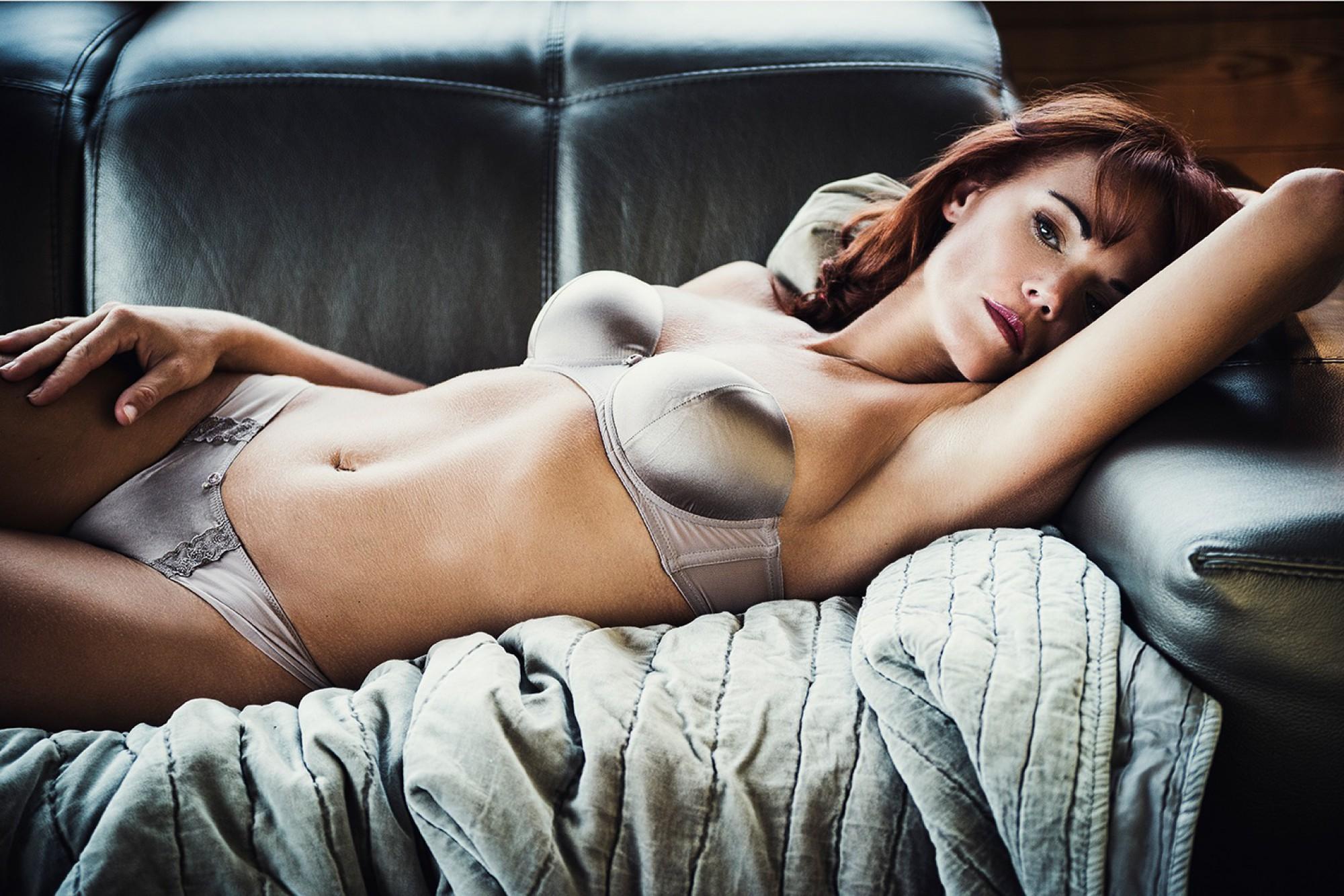 Stilvolle Fotos in Unterwäsche